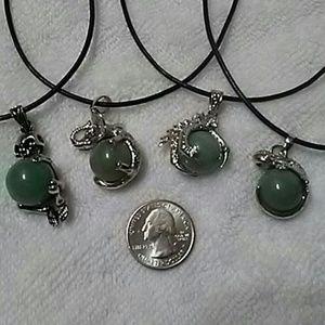 Green aventurine natural stone necklace